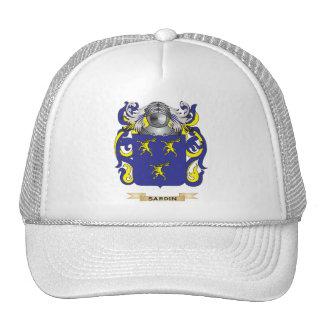 Escudo de armas de Sardin escudo de la familia Gorros Bordados
