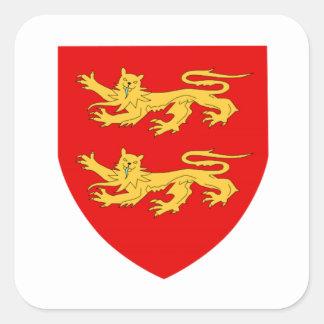 Escudo de armas de Sark Colcomanias Cuadradass