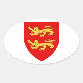 Escudo de armas de Sark Calcomanía Ovaladas Personalizadas