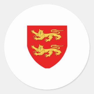 Escudo de armas de Sark Pegatinas Redondas
