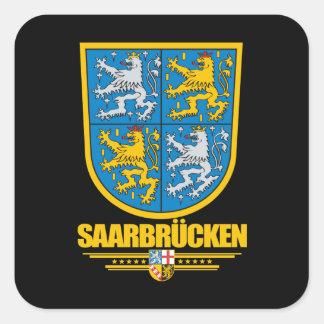 Escudo de armas de Sarrebruck Kreis Pegatina Cuadrada