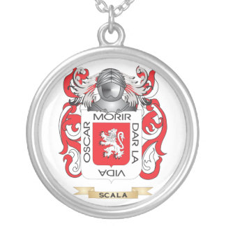 Escudo de armas de Scala (escudo de la familia) Colgante Redondo