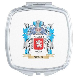 Escudo de armas de Scala - escudo de la familia Espejo Compacto