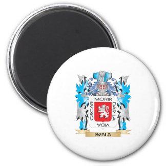 Escudo de armas de Scala - escudo de la familia Imán Redondo 5 Cm