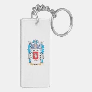 Escudo de armas de Scala - escudo de la familia Llavero Rectangular Acrílico A Doble Cara