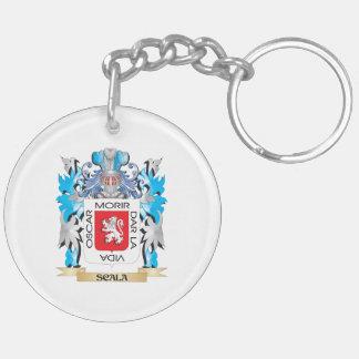 Escudo de armas de Scala - escudo de la familia Llavero Redondo Acrílico A Doble Cara