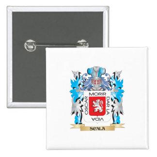 Escudo de armas de Scala - escudo de la familia Pin Cuadrada 5 Cm