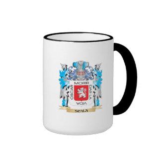Escudo de armas de Scala - escudo de la familia Taza A Dos Colores