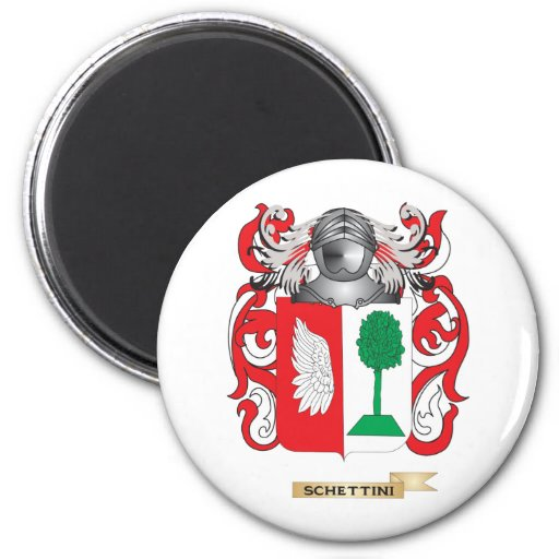 Escudo de armas de Schettini (escudo de la familia Imanes Para Frigoríficos