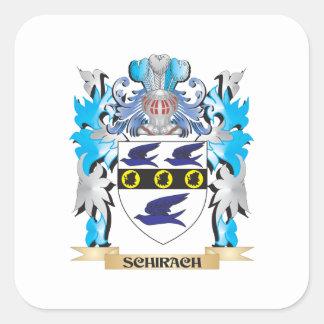 Escudo de armas de Schirach - escudo de la familia Colcomanias Cuadradas