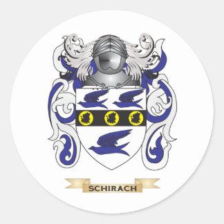 Escudo de armas de Schirach (escudo de la familia) Etiquetas Redondas