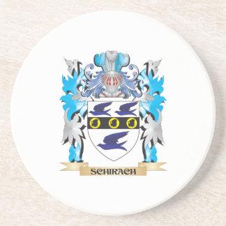 Escudo de armas de Schirach - escudo de la familia Posavasos Cerveza