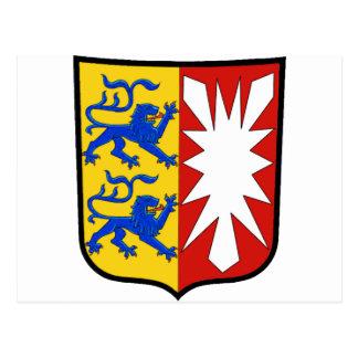 Escudo de armas de Schleswig-Holstein (Alemania) Postal