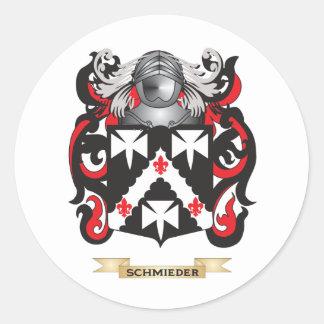 Escudo de armas de Schmieder (escudo de la Pegatina Redonda