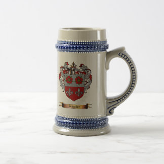 Escudo de armas de Schueller Jarra De Cerveza