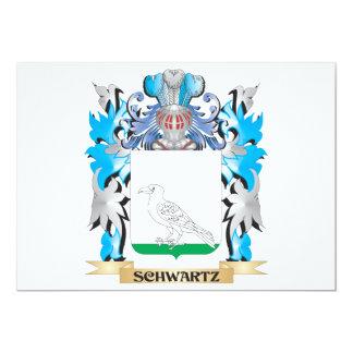 Escudo de armas de Schwartz - escudo de la familia Invitación 12,7 X 17,8 Cm