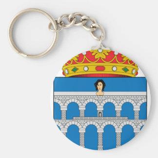Escudo de armas de Segovia (España) Llavero Redondo Tipo Pin