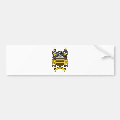 Escudo de armas de SELBY Etiqueta De Parachoque