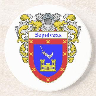 Escudo de armas de Sepulveda/escudo de la familia Posavasos Para Bebidas