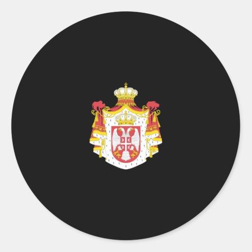Escudo de armas de Serbia Pegatinas Redondas