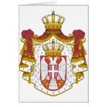 Escudo de armas de Serbia Tarjeta De Felicitación