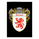 Escudo de armas de Serrano (cubierto) Felicitacion