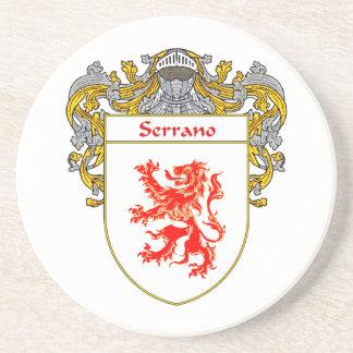 Escudo de armas de Serrano/escudo de la familia Posavasos Manualidades