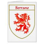 Escudo de armas de Serrano/escudo de la familia Tarjeta De Felicitación