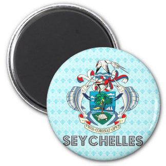 Escudo de armas de Seychelles Imán Redondo 5 Cm