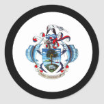 Escudo de armas de Seychelles Pegatina Redonda