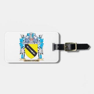 Escudo de armas de Shakespear - escudo de la Etiquetas Para Maletas