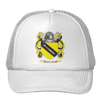 Escudo de armas de Shakespear (escudo de la famili Gorras