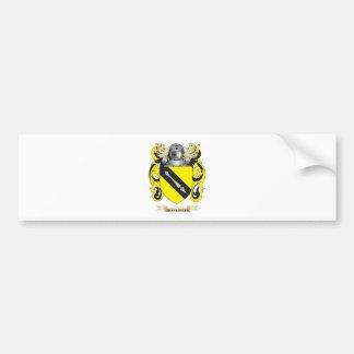 Escudo de armas de Shakespear (escudo de la famili Pegatina Para Auto