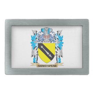 Escudo de armas de Shakespear - escudo de la Hebillas Cinturón Rectangulares