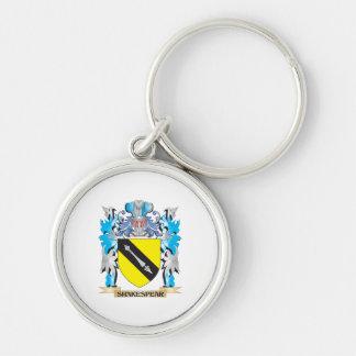 Escudo de armas de Shakespear - escudo de la Llaveros Personalizados