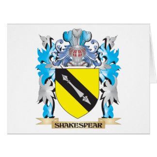 Escudo de armas de Shakespear - escudo de la Tarjeta De Felicitación Grande
