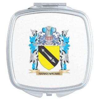 Escudo de armas de Shakespeare - escudo de la Espejos Compactos