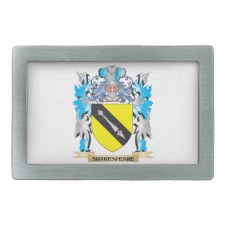 Escudo de armas de Shakespeare - escudo de la Hebilla De Cinturon Rectangular