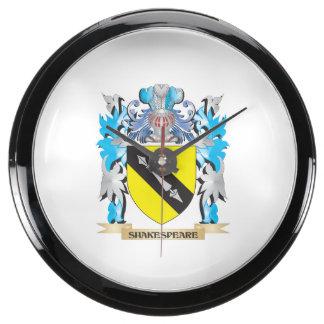 Escudo de armas de Shakespeare - escudo de la Reloj Aquavista