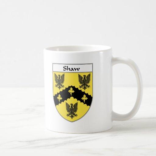 Escudo de armas de Shaw/escudo de la familia Taza Básica Blanca