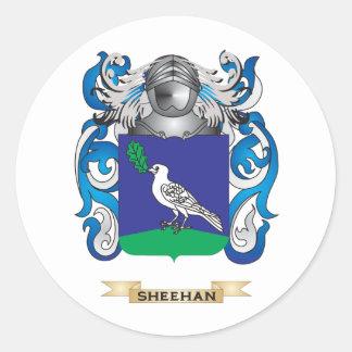 Escudo de armas de Sheehan (escudo de la familia) Pegatina Redonda