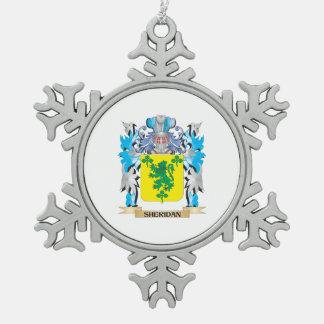 Escudo de armas de Sheridan - escudo de la familia Adorno De Peltre En Forma De Copo De Nieve