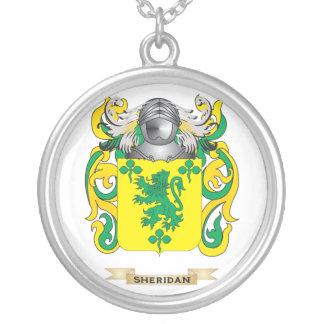 Escudo de armas de Sheridan (escudo de la familia) Colgante Redondo