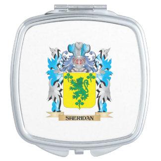 Escudo de armas de Sheridan - escudo de la familia Espejo Compacto