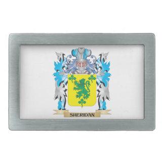 Escudo de armas de Sheridan - escudo de la familia Hebillas De Cinturon Rectangulares