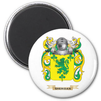 Escudo de armas de Sheridan (escudo de la familia) Imán Redondo 5 Cm