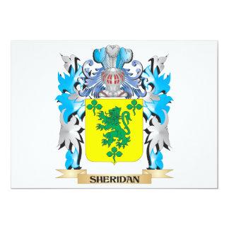 """Escudo de armas de Sheridan - escudo de la familia Invitación 5"""" X 7"""""""