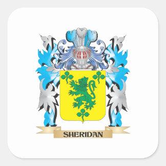 Escudo de armas de Sheridan - escudo de la familia Pegatina Cuadrada