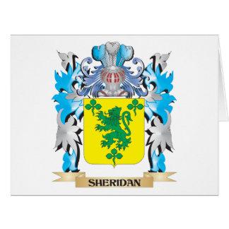 Escudo de armas de Sheridan - escudo de la familia Tarjeta De Felicitación Grande