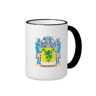 Escudo de armas de Sheridan - escudo de la familia Taza A Dos Colores